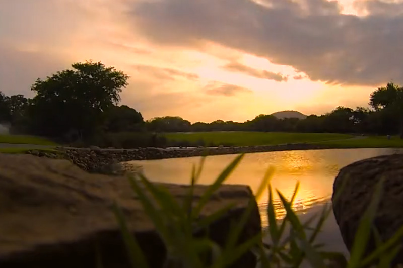 Sunrise to sunset. . . the dazzling colours of Leopard Creek