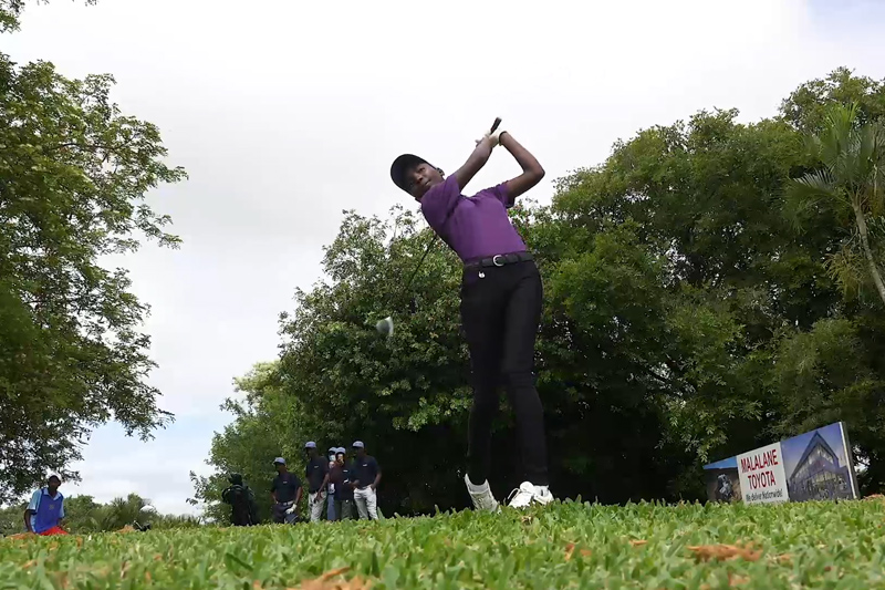 Talented youngsters enjoy golf clinic